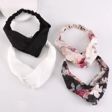 4pcs Ditsy Floral Pattern Headband