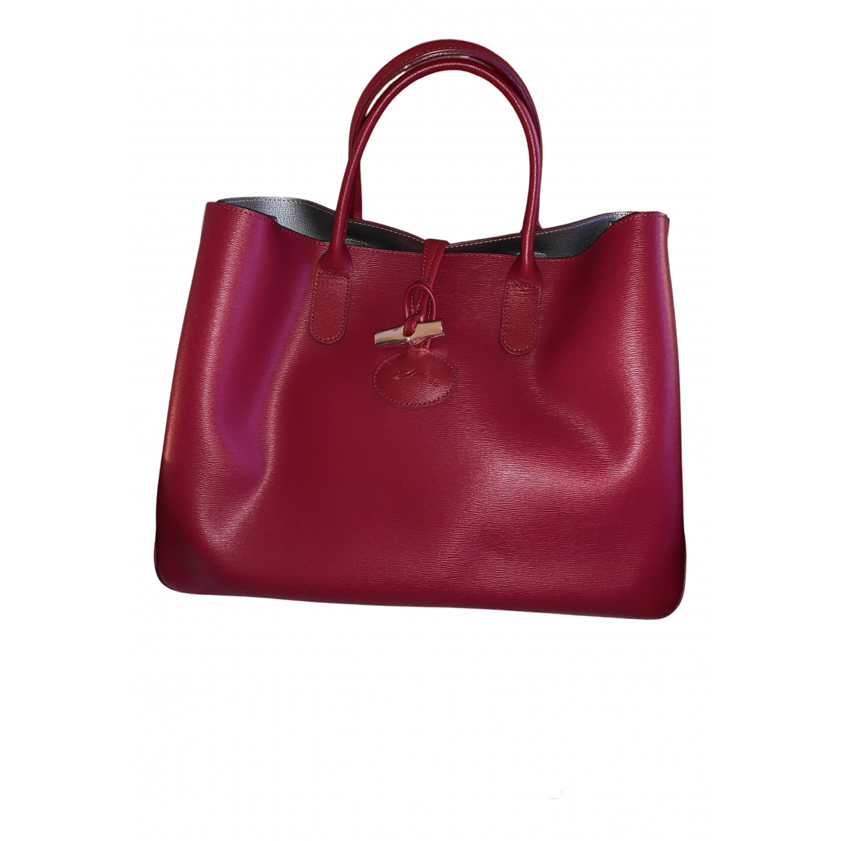 Longchamp Roseau Red Leather handbag for Women N