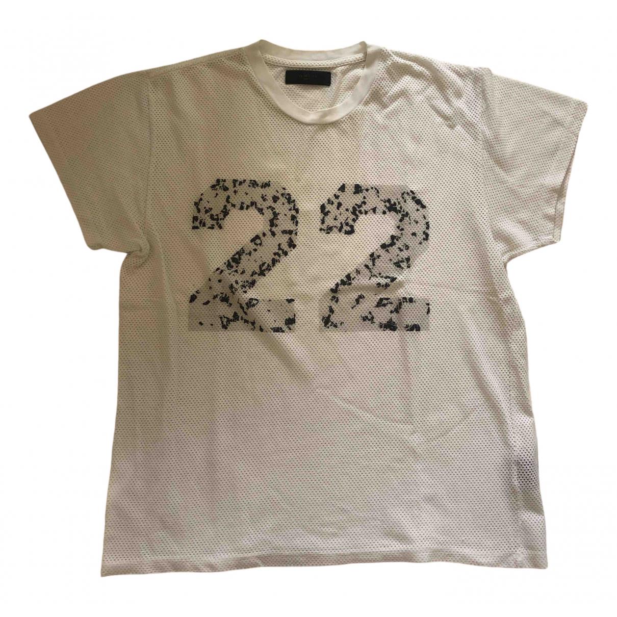 Amiri N White Cotton T-shirts for Men M International