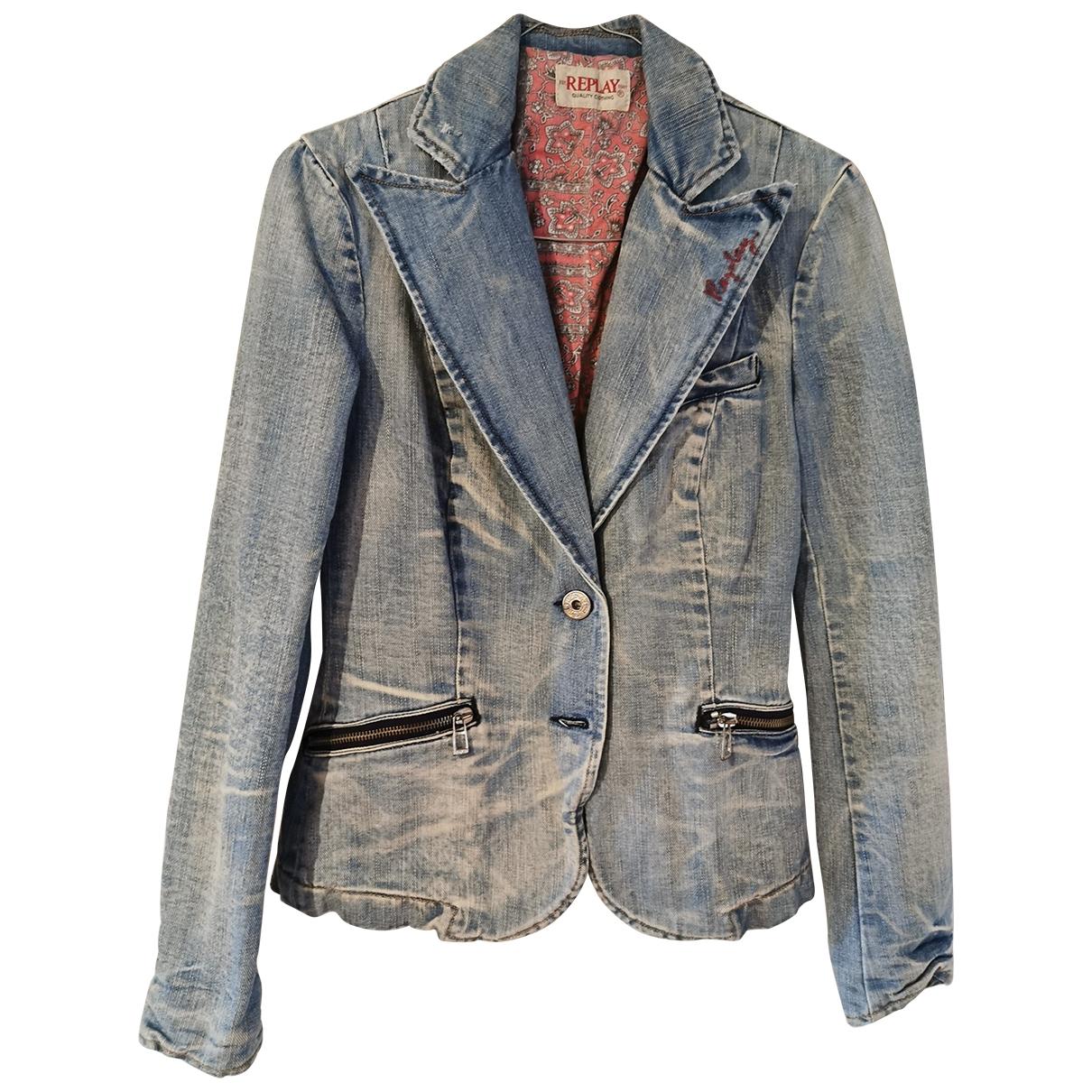 Replay \N Jacke in  Blau Denim - Jeans