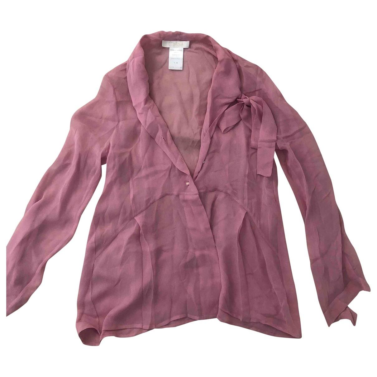 Chloe - Top   pour femme en soie - rose