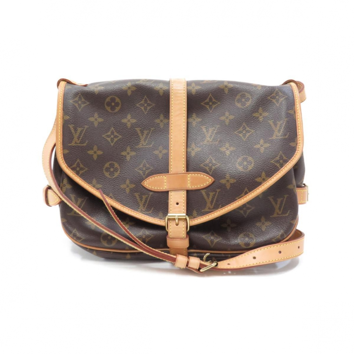 Louis Vuitton Saumur Brown Cloth handbag for Women \N