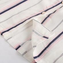 Girls Double Pocket Striped Cami Dress