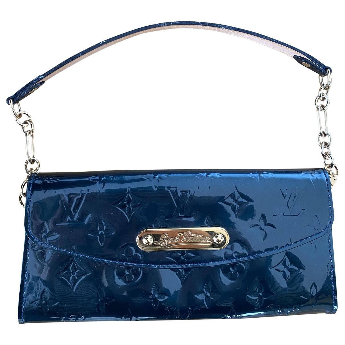 Louis Vuitton - Pochette   pour femme en cuir verni - bleu