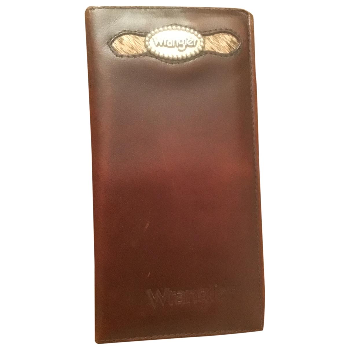 Wrangler - Portefeuille   pour femme en cuir - marron