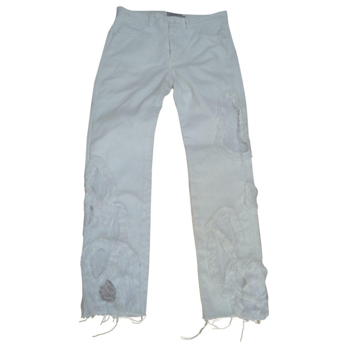 Preen By Thornton Bregazzi \N White Cotton Jeans for Women 24 US