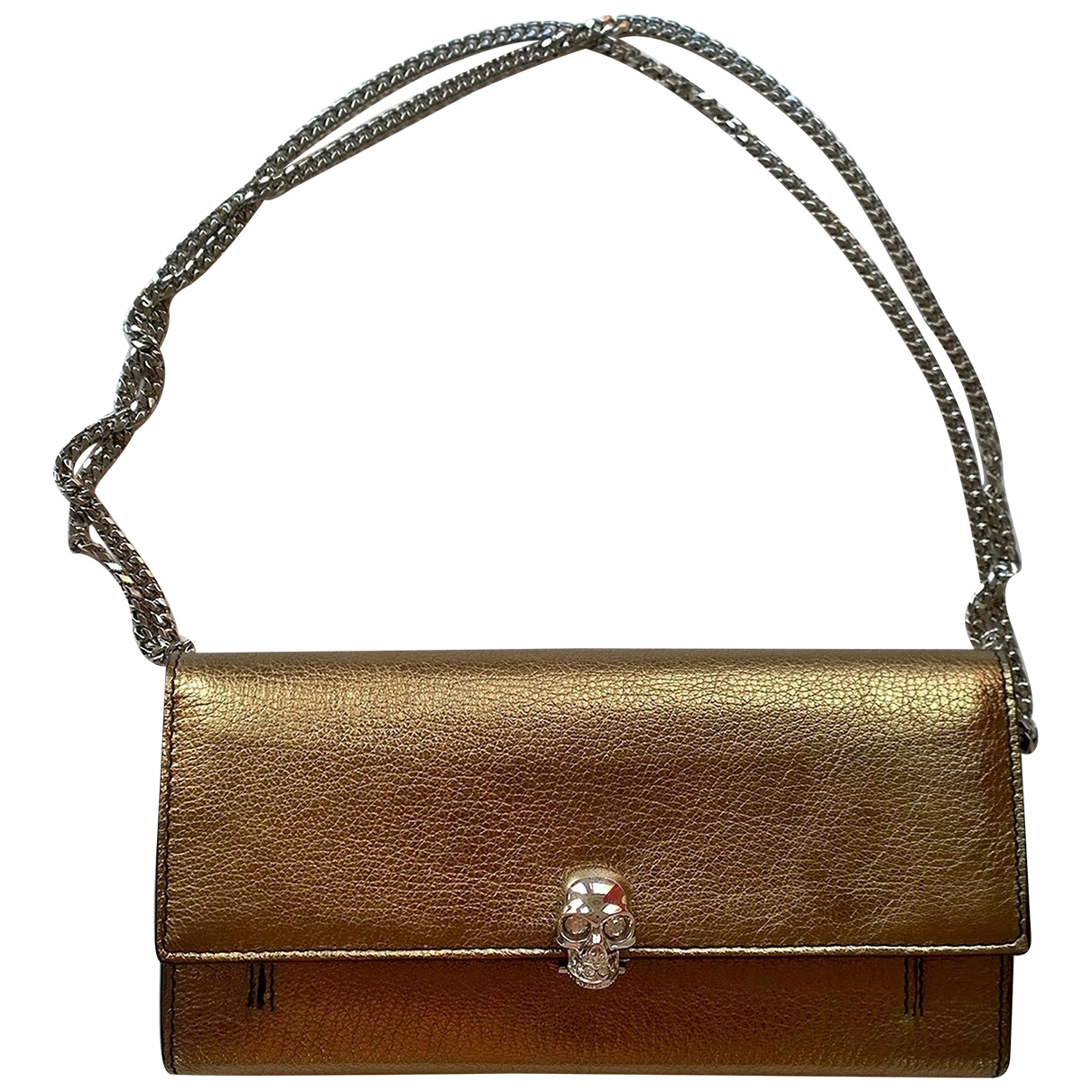 Alexander Mcqueen \N Metallic Leather handbag for Women \N