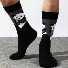 Men Panda Pattern Socks