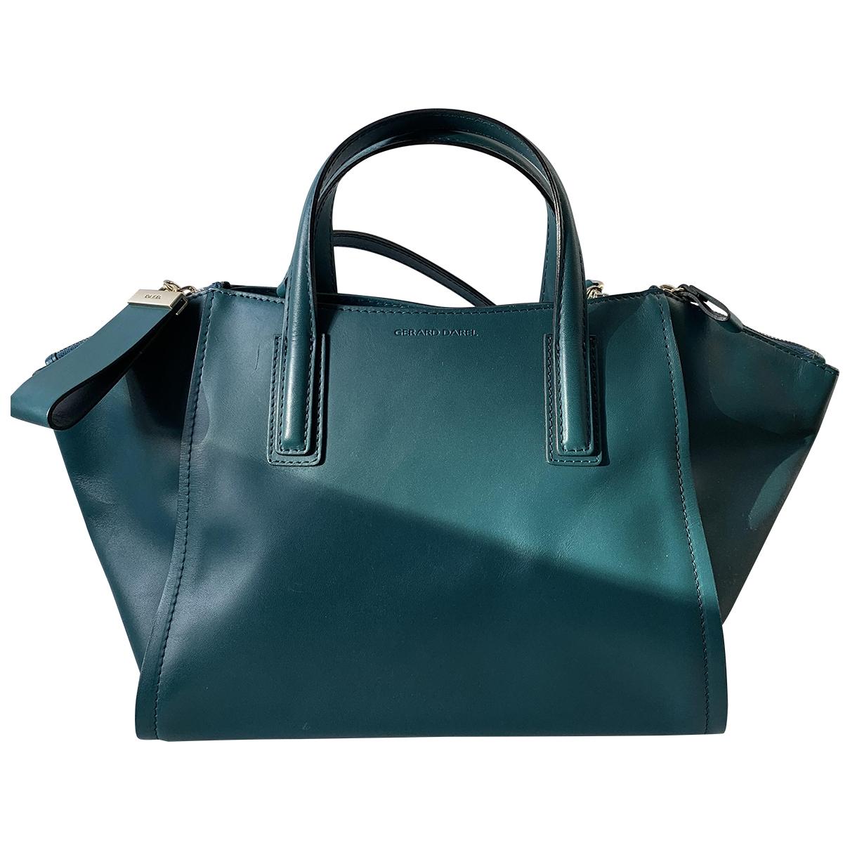 Gerard Darel - Sac a main   pour femme en cuir - turquoise