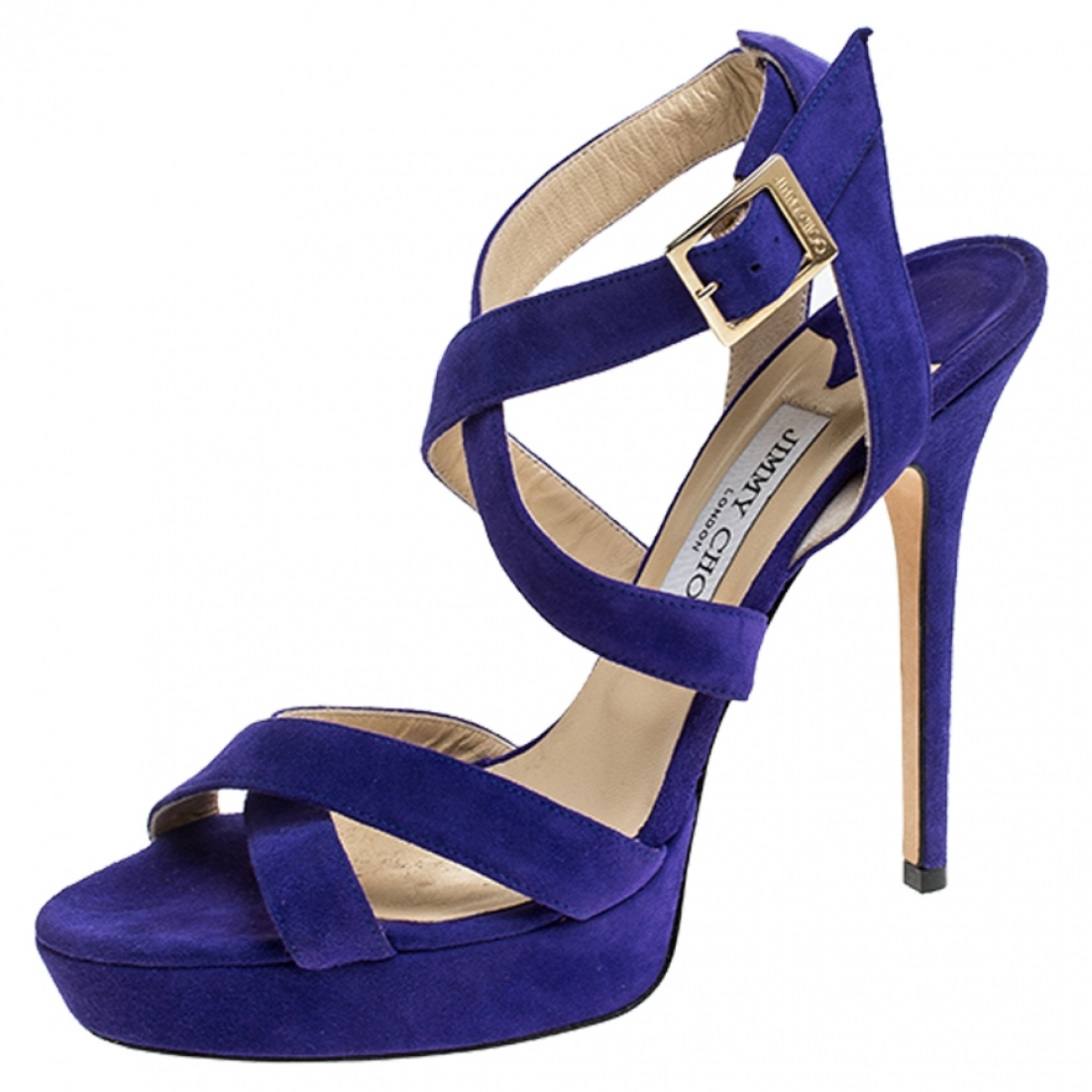 Jimmy Choo \N Sandalen in  Lila Veloursleder