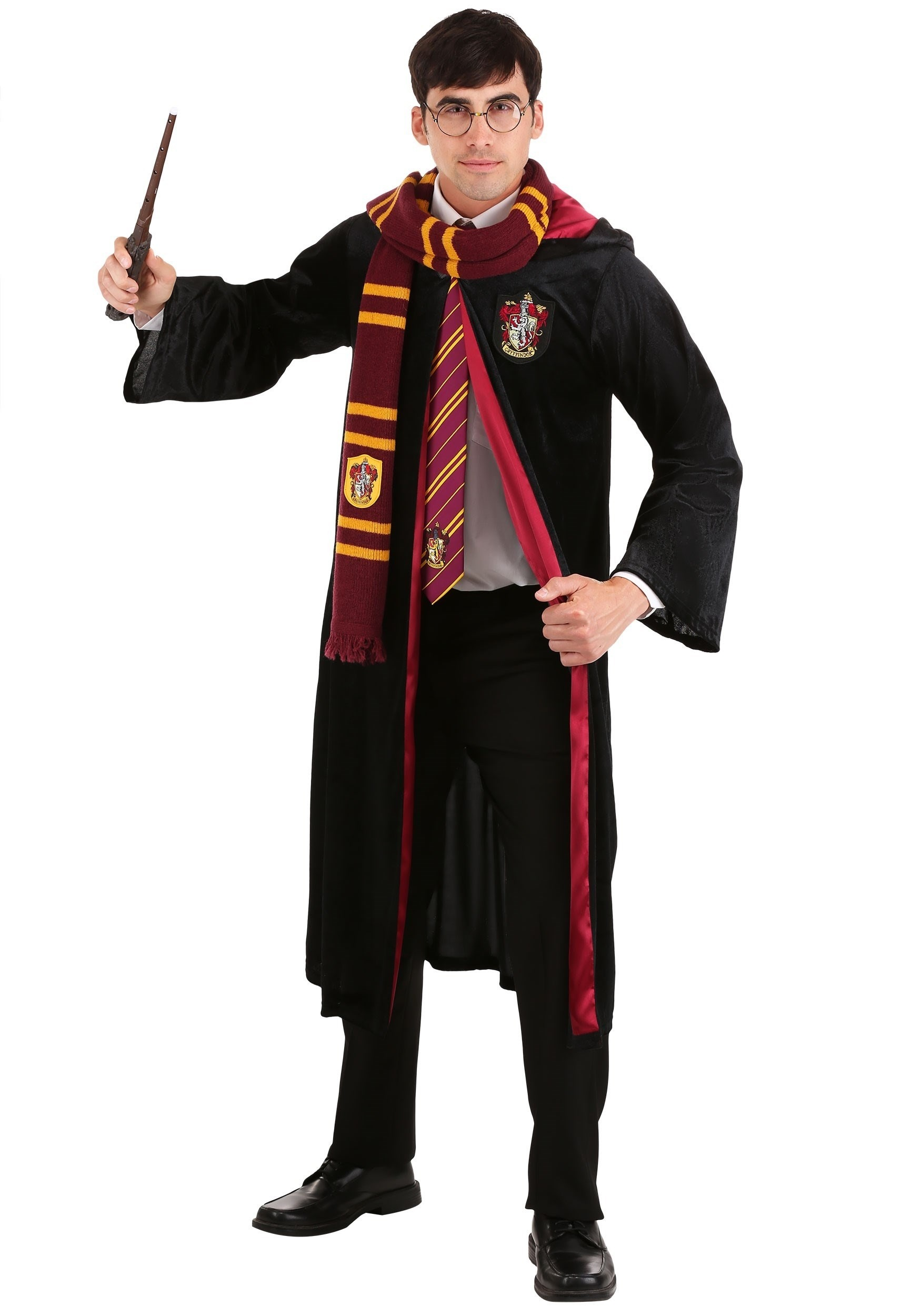 Plus Size Adult Harry Potter Deluxe Gryffindor Robe
