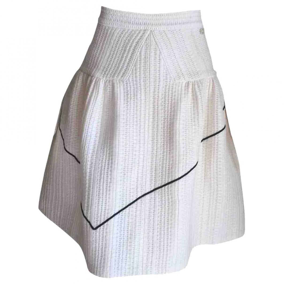 Chanel \N Ecru Silk skirt for Women 38 FR