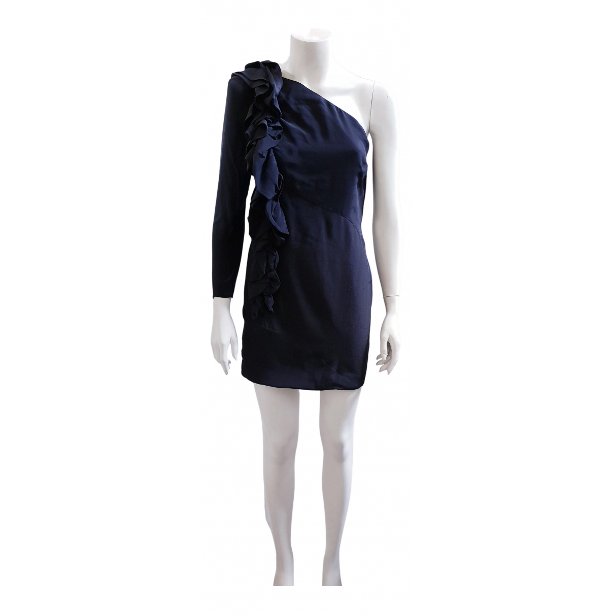 Non Signé / Unsigned N Black Silk dress for Women 4 US