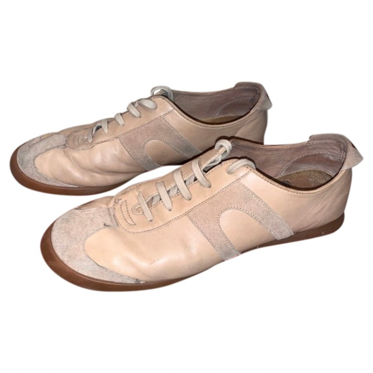 Camper \N Beige Leather Trainers for Women 10 US