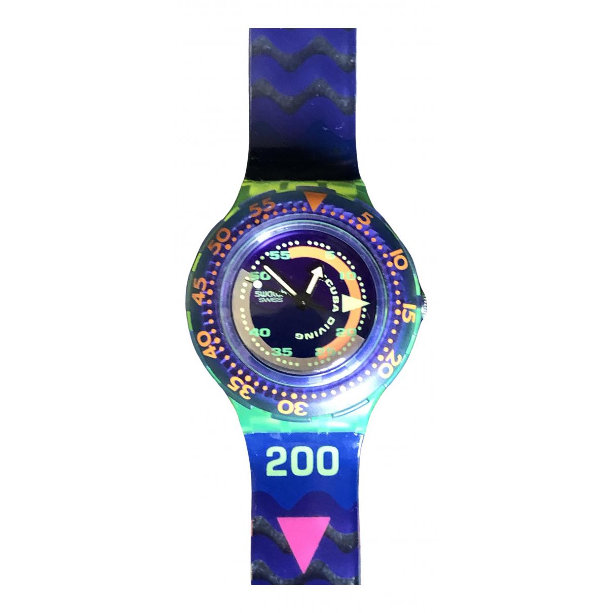 Swatch - Montre   pour homme en autre - violet