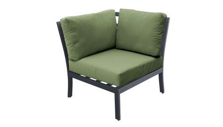 TKC067b-CS-CILANTRO Corner Chair - Ash and Cilantro