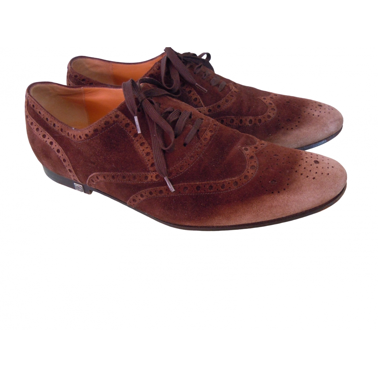 Gucci \N Brown Suede Lace ups for Men 40 EU