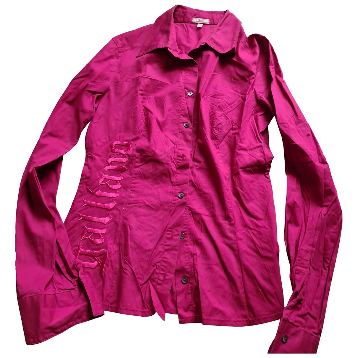 Galliano \N Top in  Rot Baumwolle