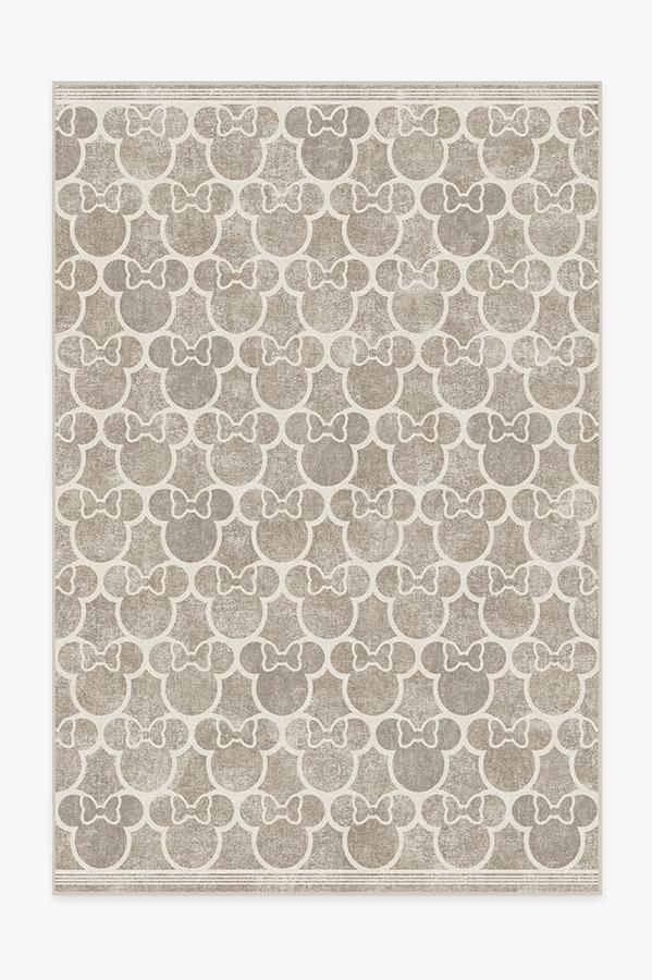 Washable Rug Cover | Minnie Trellis Ash Grey Rug | Stain-Resistant | Ruggable | 6'x9'