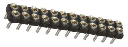 Samtec , SDL 2.54mm Pitch 24 Way 2 Row Straight PCB Socket, Through Hole, Through Hole Termination