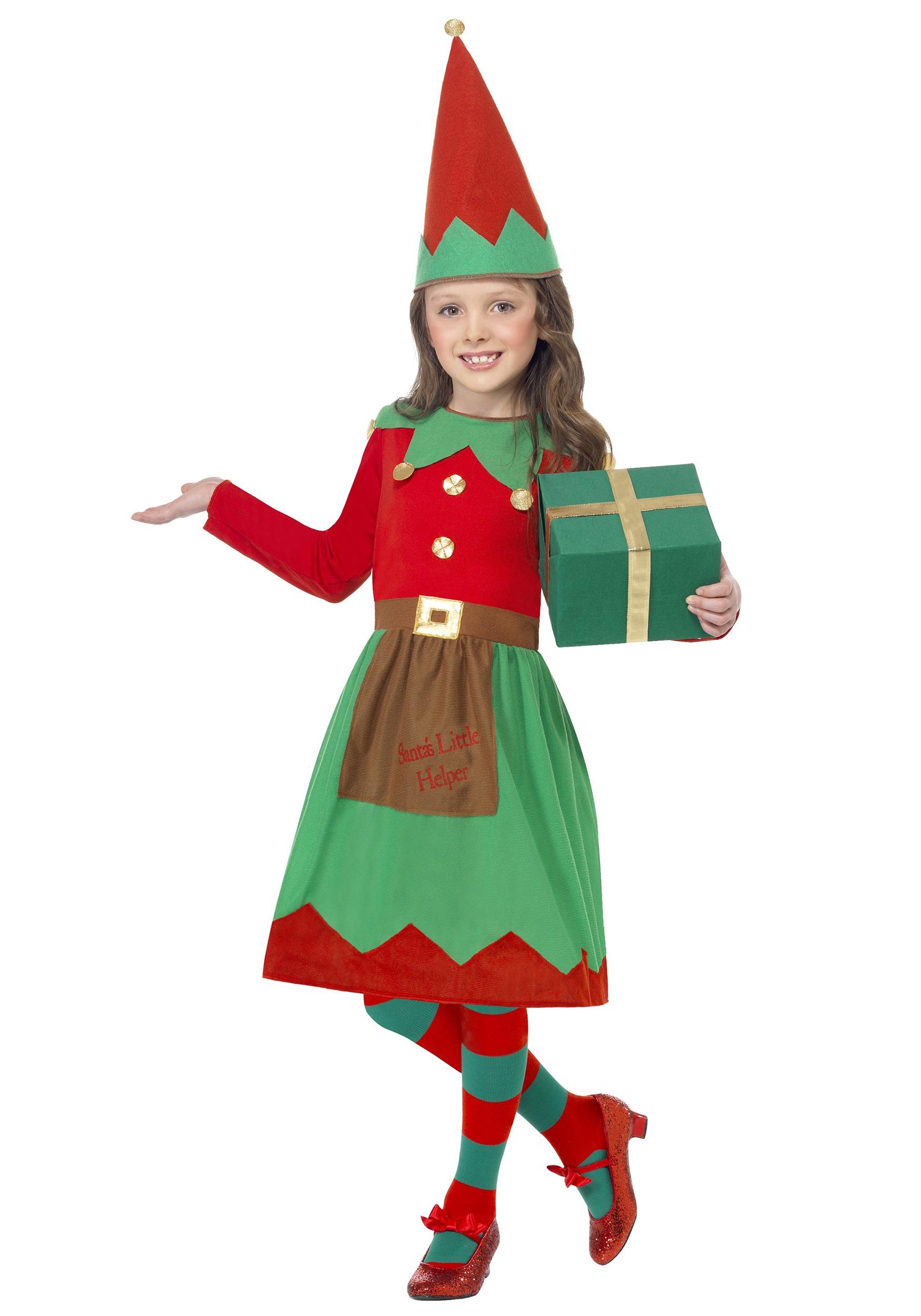 Girls Santa's Little Helper Costume