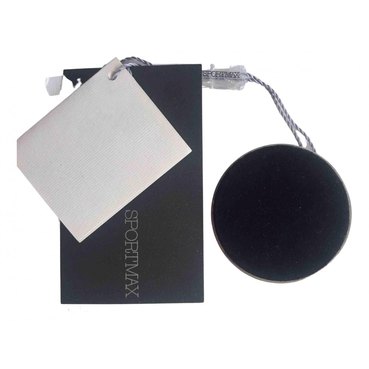 Sport Max - Broche   pour femme en cuir - noir