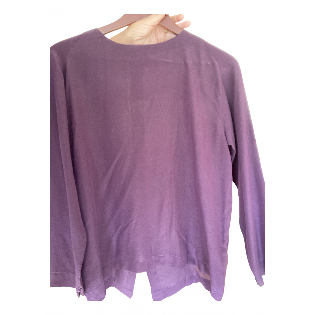 Pomandère N Purple Silk  top for Women 40 FR