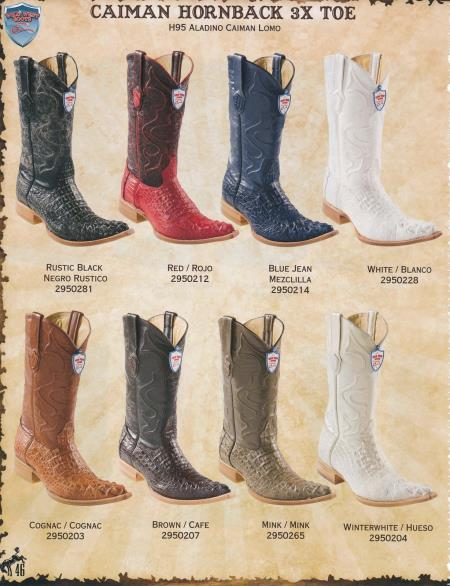 XXXToe Caiman Hornback Mens Cowboy Western Boots Diff. Colors/Sizes