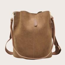 Minimalist Bucket Tote Bag