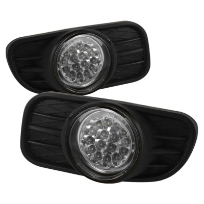 Spyder Auto Group LED Fog Lights with Switch (Clear) - 5015693