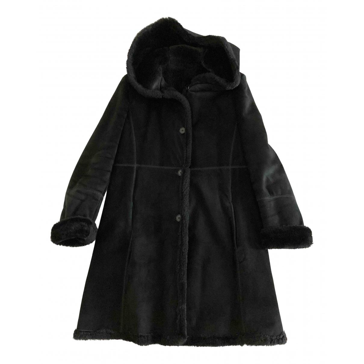 Searle - Manteau   pour femme en cuir - noir