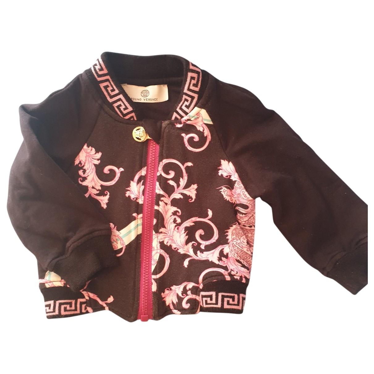 Versace \N Black Cotton jacket & coat for Kids 6 months - up to 67cm FR