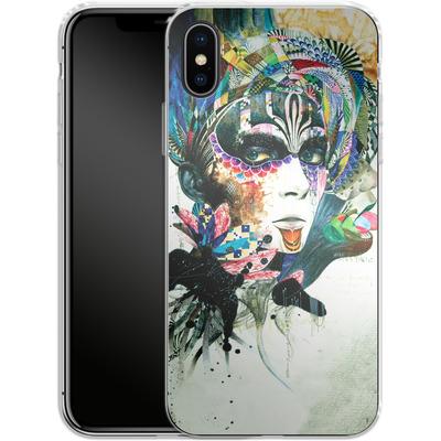 Apple iPhone X Silikon Handyhuelle - Blossom Desire von Minjae Lee