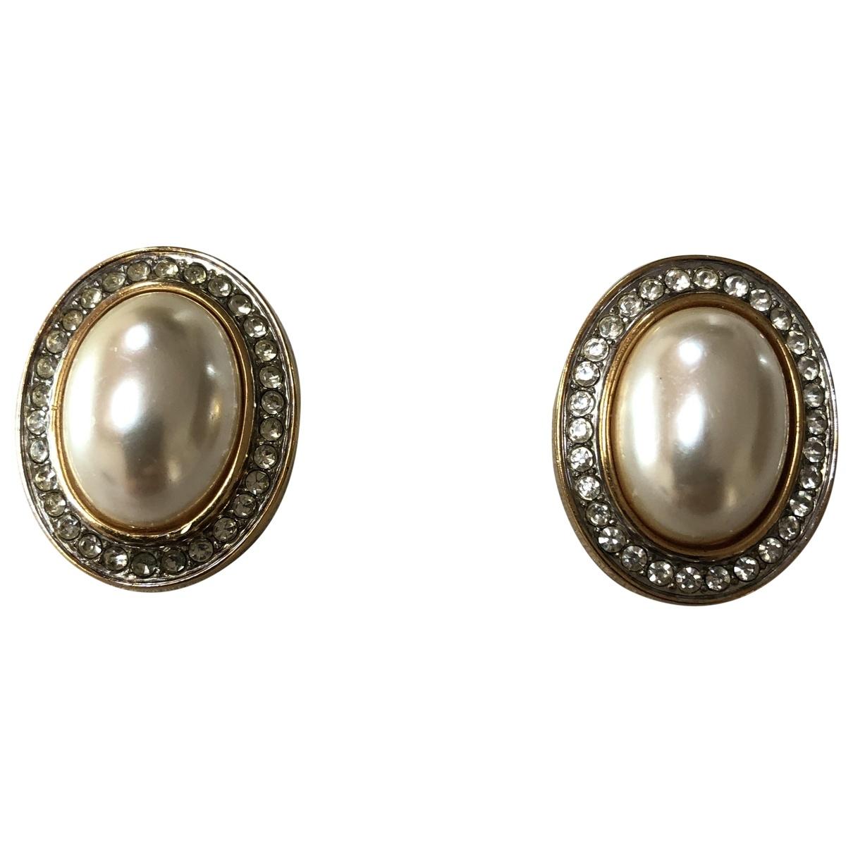 Lanvin - Boucles doreilles   pour femme en perle - dore
