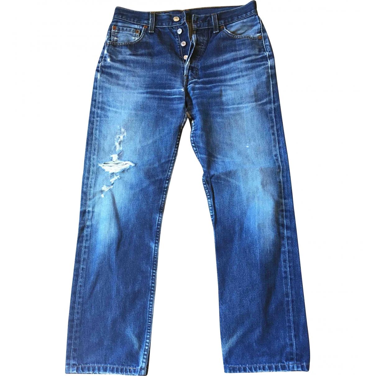 Levi's \N Blue Cotton Jeans for Women 30 US