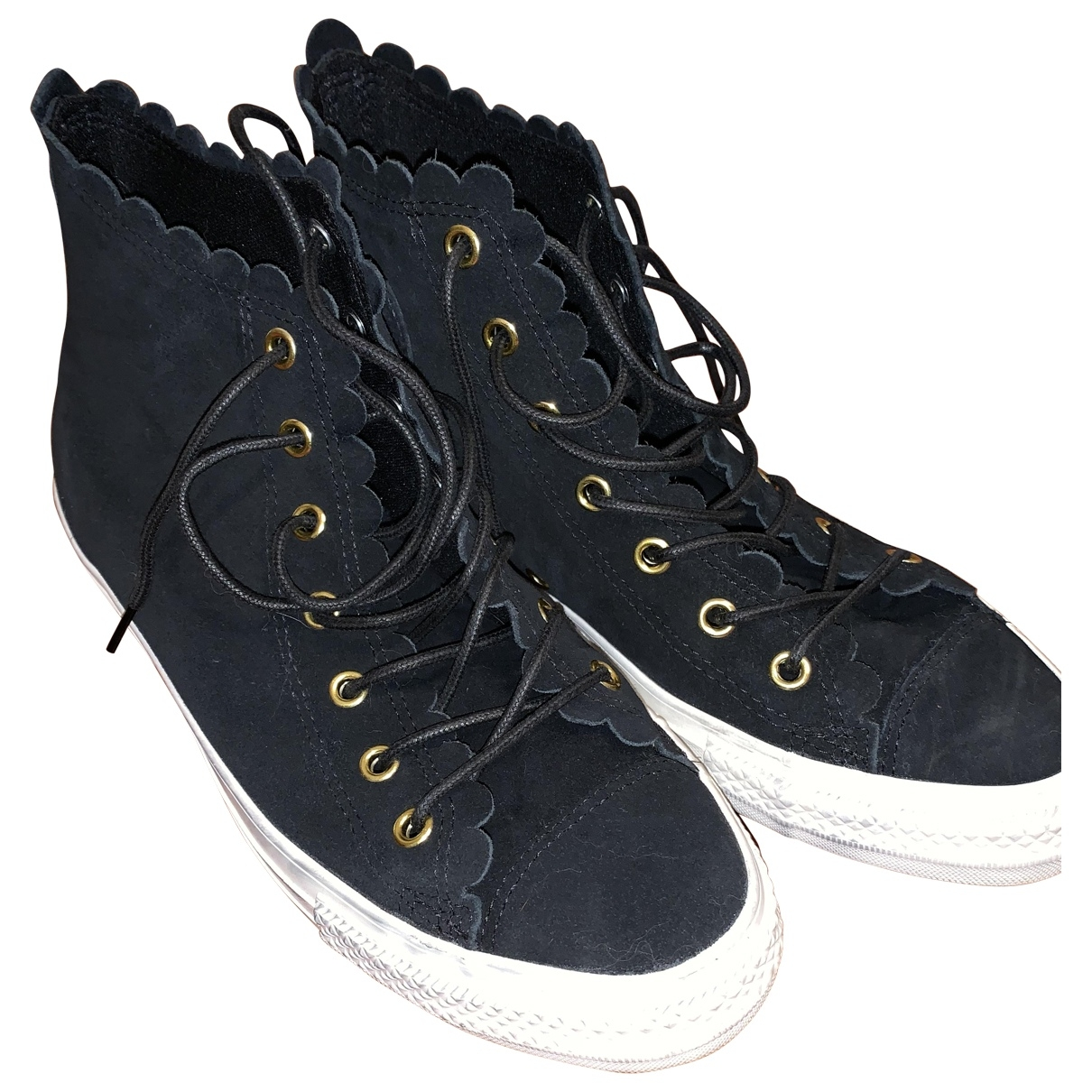 Converse \N Black Suede Trainers for Women 39 EU