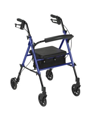 rtl10261bl Adjustable Height Rollator With 6 Wheels