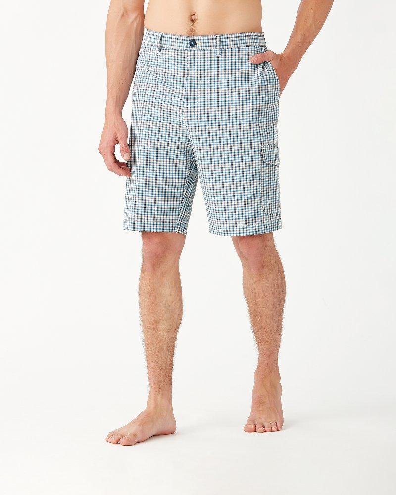 Big & Tall Cayman Ciudad Check Cargo Shorts
