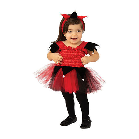 Court Jester Infant/Toddler Costume Girls Costume, 6-12 Months , Red