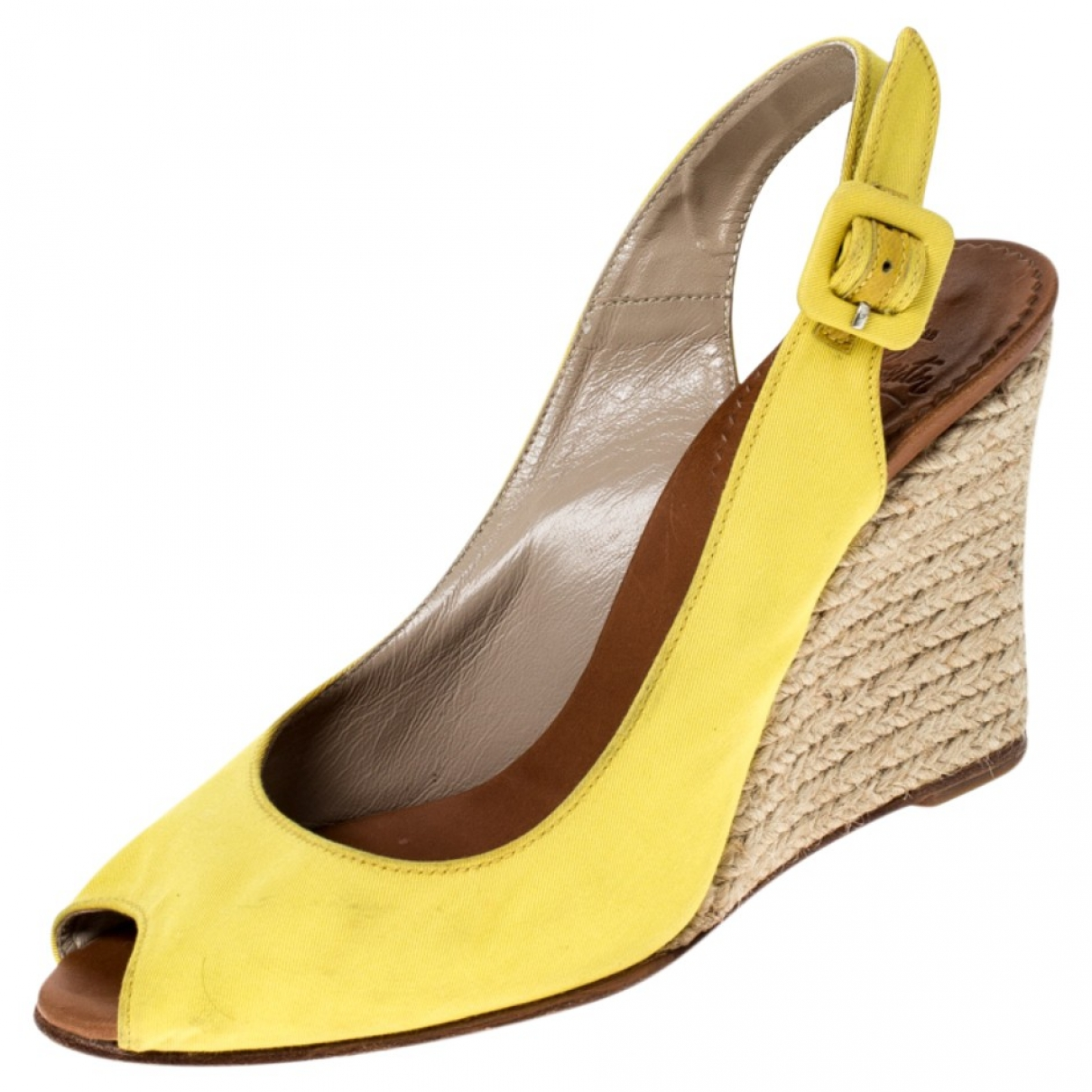 Christian Louboutin \N Yellow Leather Sandals for Women 5.5 US