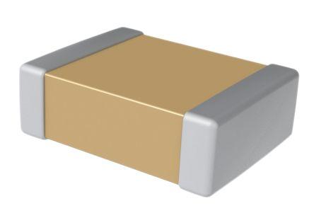 KEMET 0402 (1005M) 1.3nF Multilayer Ceramic Capacitor MLCC 10V dc ±5% SMD C0402C132J8JACTU (10000)