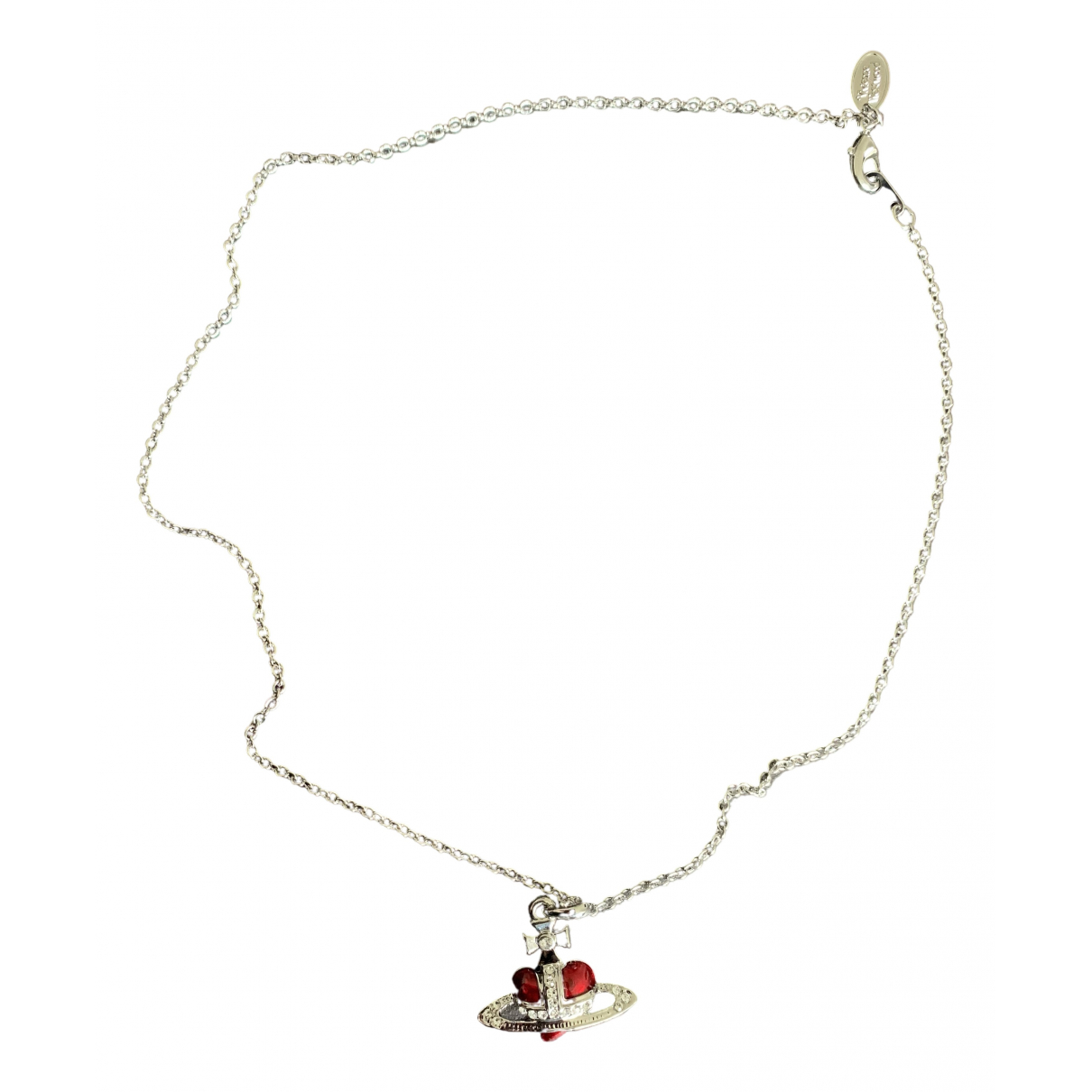 Vivienne Westwood - Collier   pour femme en argent - rouge