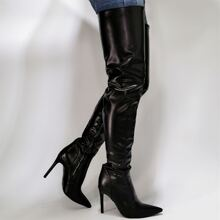 Halloween Ruched Stiletto Heeled Boots