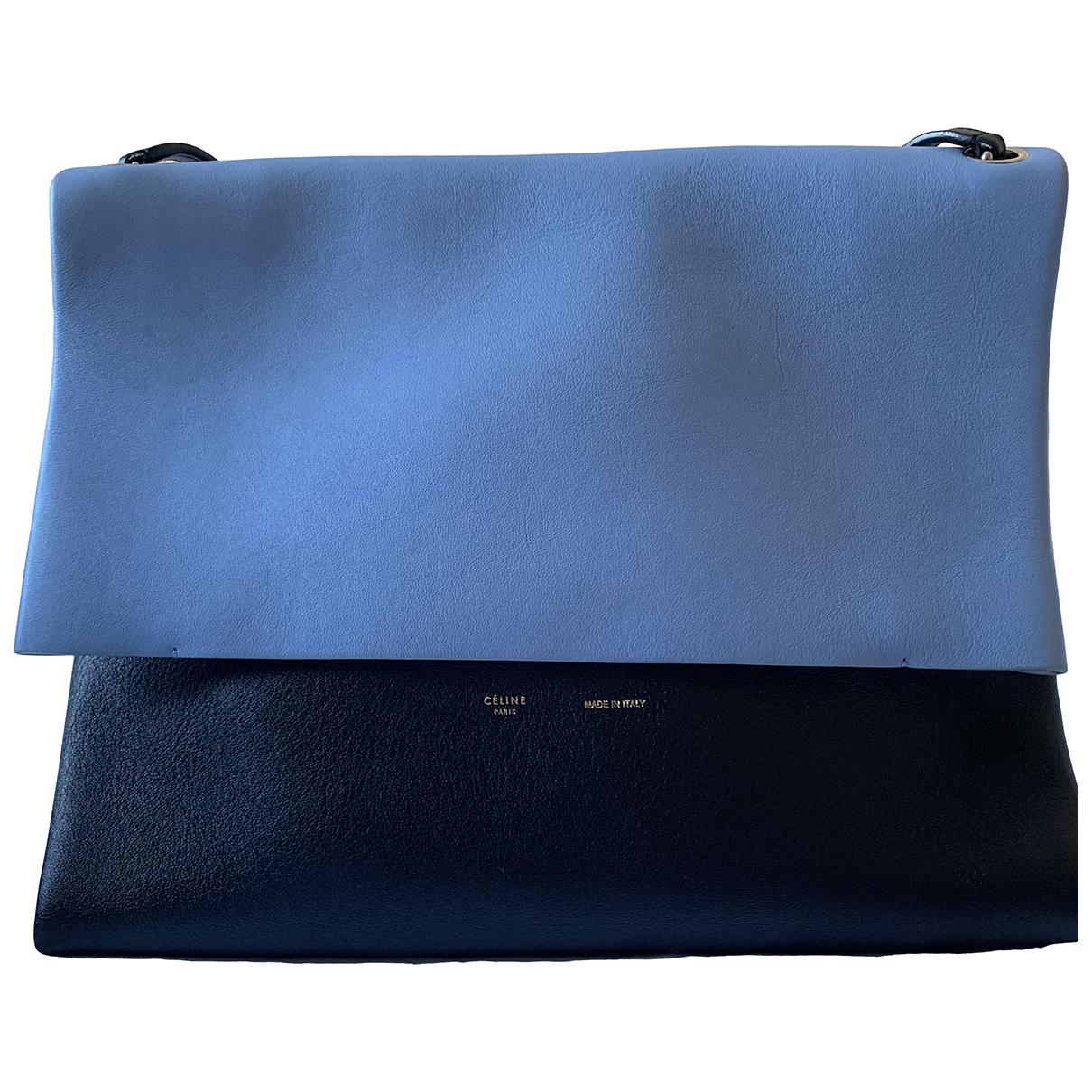 Celine All Soft Handtasche in  Blau Leder