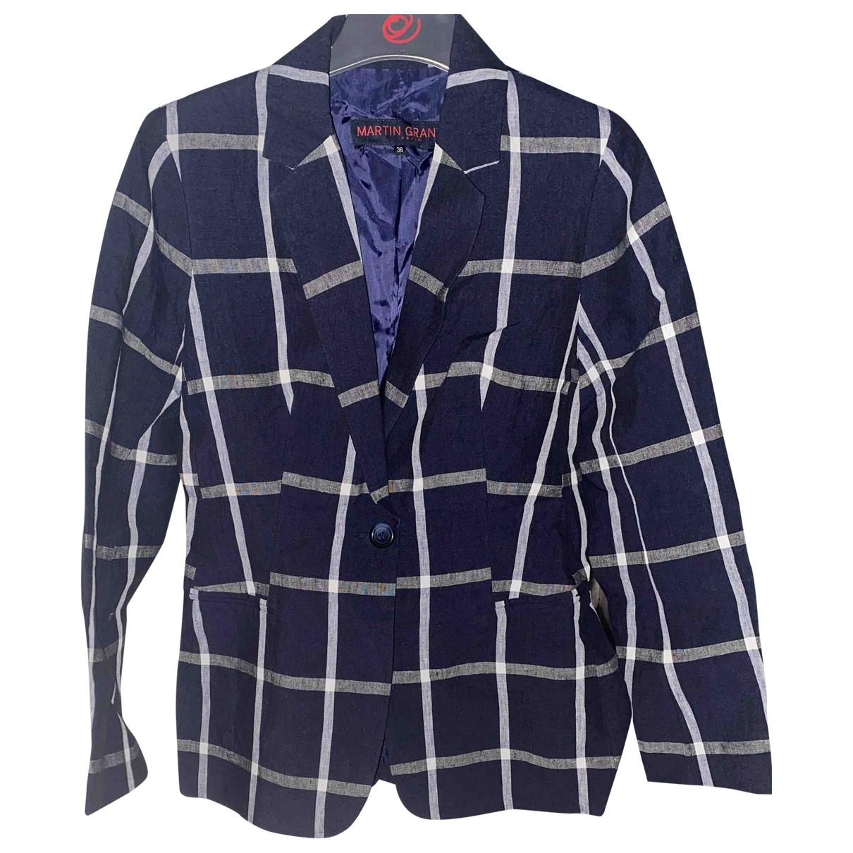 Martin Grant \N Blue Linen jacket for Women 36 FR
