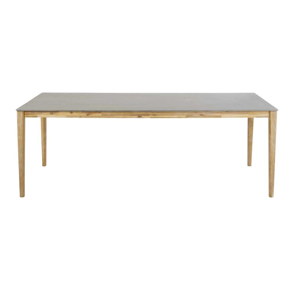 Gartentisch aus Zement fuer 8/10 Personen L220