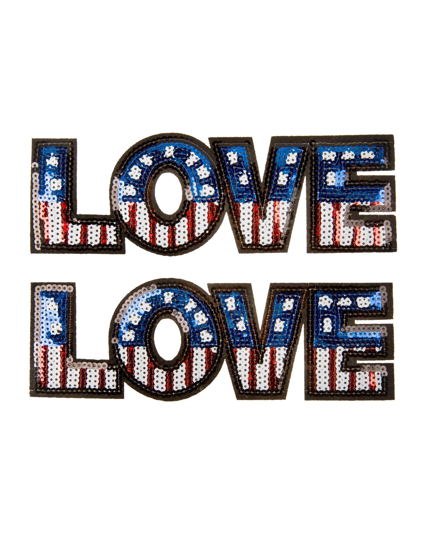 Kostuemzubehor Aufnaeher/Buegelbild Love America