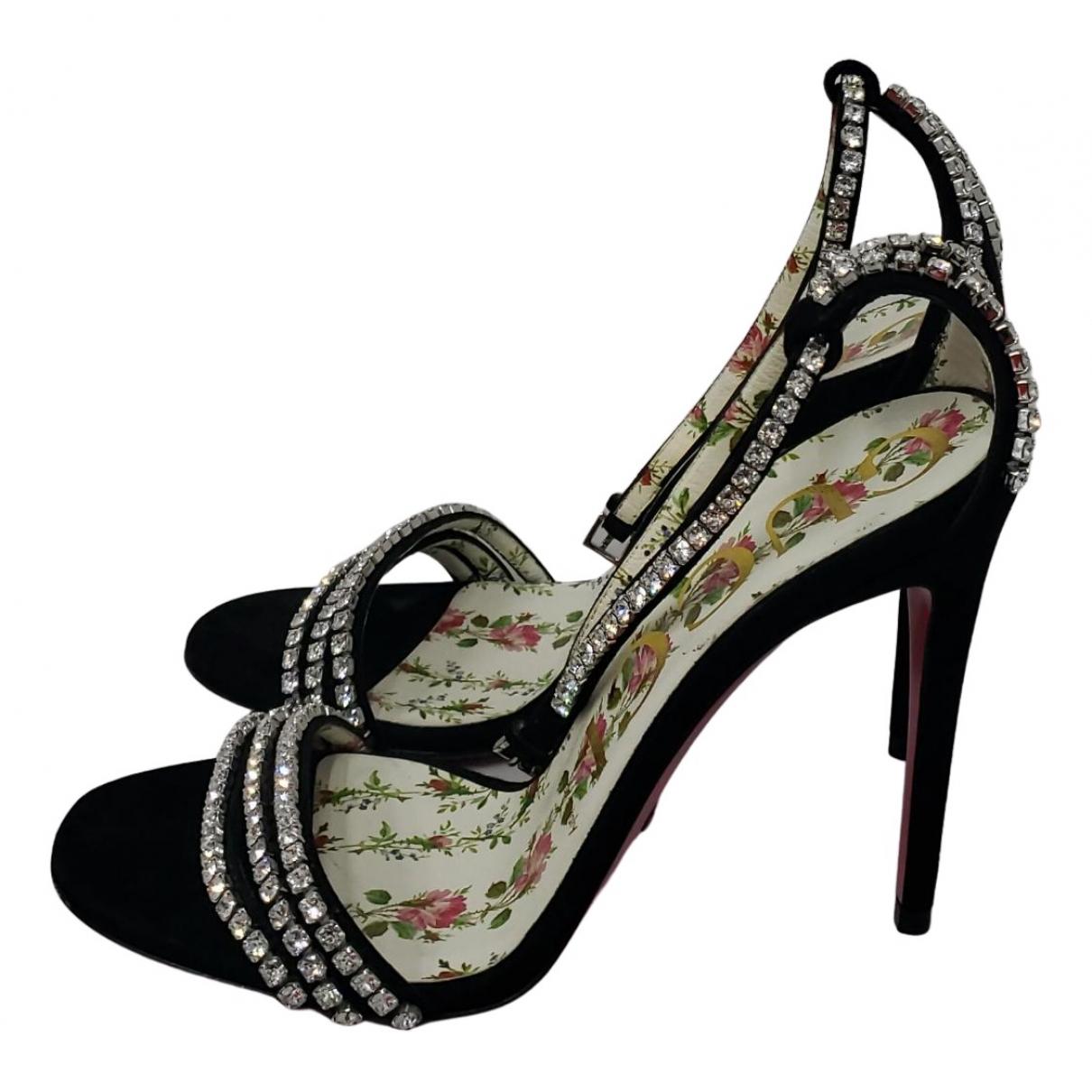 Gucci - Sandales   pour femme en suede - noir