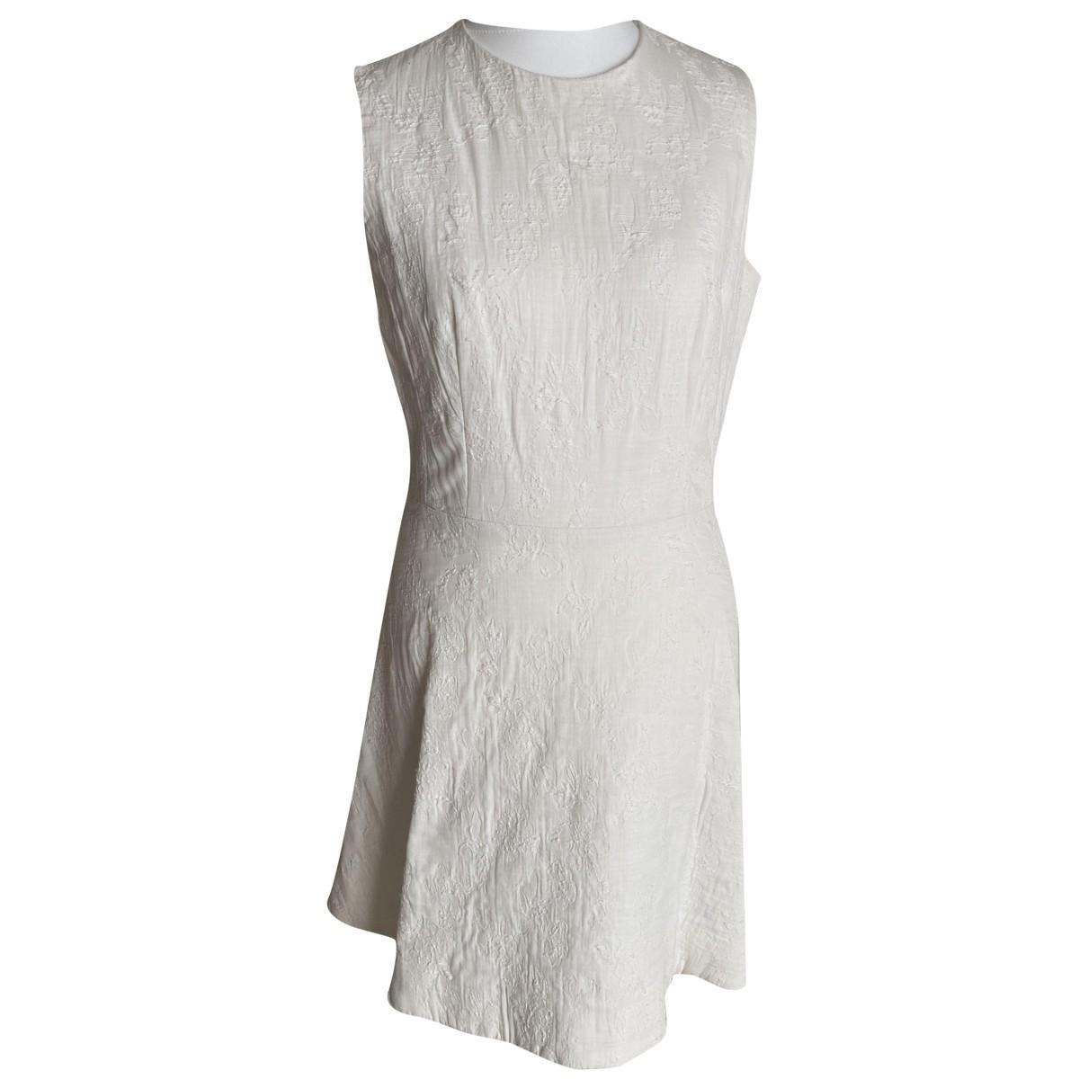 La Mania \N Kleid in  Weiss Baumwolle