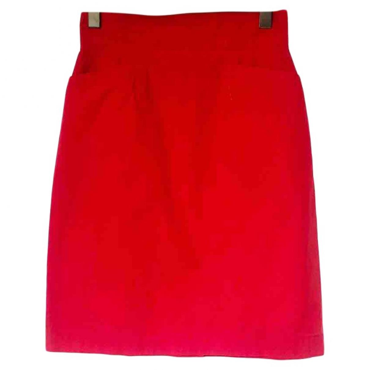 Kenzo \N Red Cotton skirt for Women 38 FR